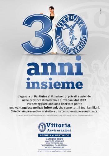 30 anni Vittoria Assicurazioni Terrasini 70x100